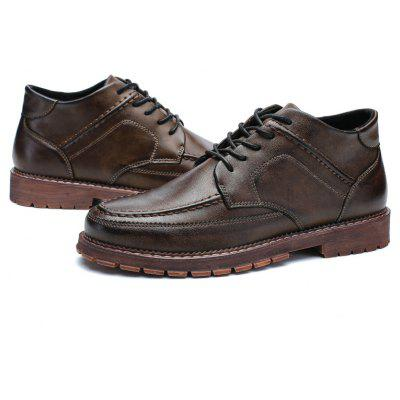 9fc4b3c82e9 ... Middle Leather Vamp Men Casual Shoes TCqzP ...
