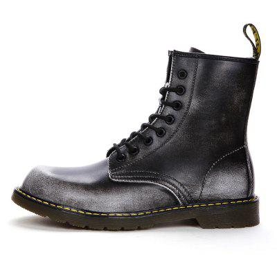 """Couple Style Leather High Vamp BootsMens Boots<br>Couple Style Leather High Vamp Boots<br><br>Boot Height: Ankle<br>Boot Type: Fashion Boots<br>Closure Type: Lace-Up<br>Embellishment: None<br>Gender: For Men<br>Heel Hight: Low(0.75""""-1.5"""")<br>Heel Type: Flat Heel<br>Outsole Material: Rubber<br>Package Contents: 1?Shoes(pair)<br>Pattern Type: Solid<br>Season: Spring/Fall<br>Toe Shape: Round Toe<br>Upper Material: Cow Split<br>Weight: 1.0200kg"""