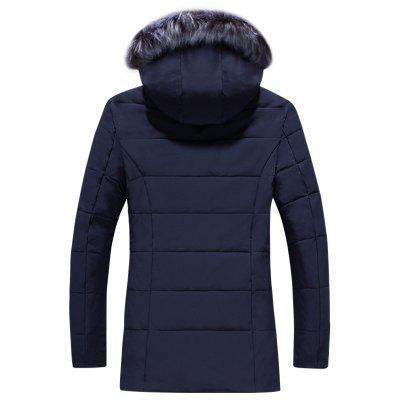 Mens Trend Fur Collar Long Cotton ClothesMens Jackets &amp; Coats<br>Mens Trend Fur Collar Long Cotton Clothes<br><br>Closure Type: Zipper<br>Clothes Type: Padded<br>Collar: Hooded<br>Colors: Black,Blue,Gray,Army green<br>Decoration: Feather<br>Detachable Part: None<br>Hooded: Yes<br>Lining Material: Cotton,Synthetic<br>Materials: Down, Cotton<br>Package Content: 1 X Coat<br>Package size (L x W x H): 1.00 x 1.00 x 1.00 cm / 0.39 x 0.39 x 0.39 inches<br>Package weight: 0.5000 kg<br>Shirt Length: Long<br>Size1: M,L,XL,4XL,2XL,3XL<br>Sleeve Style: Regular<br>Style: Casual<br>Thickness: Thickening