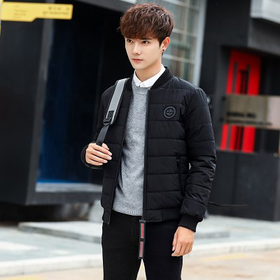 Mens Fashion Casual Hat-Free JacketMens Jackets &amp; Coats<br>Mens Fashion Casual Hat-Free Jacket<br><br>Closure Type: Zipper<br>Clothes Type: Padded<br>Colors: Black,White,Army green<br>Detachable Part: None<br>Hooded: No<br>Lining Material: Cotton,Synthetic<br>Materials: Down, Cotton<br>Package Content: 1 X Coat<br>Package size (L x W x H): 1.00 x 1.00 x 1.00 cm / 0.39 x 0.39 x 0.39 inches<br>Package weight: 0.5000 kg<br>Size1: M,L,XL,2XL,3XL<br>Sleeve Style: Regular<br>Style: Casual<br>Technics: Other<br>Thickness: Thickening