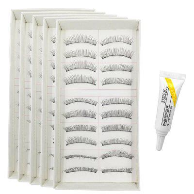 100 Pairs Makeup Daily Life Pure Manual Natural Long False Eyelash Suit