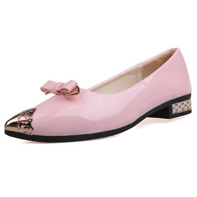 XS-1788 Bow Foot with Low Light Metal Pointed Muzzle Rough Documentary ShoesWomens Flats<br>XS-1788 Bow Foot with Low Light Metal Pointed Muzzle Rough Documentary Shoes<br><br>Available Size: 35?36?37?38?39<br>Closure Type: Slip-On<br>Flat Type: Mary Janes<br>Gender: For Women<br>Occasion: Casual<br>Package Contents: 1xShoes?pair?<br>Package size (L x W x H): 26.00 x 12.00 x 10.00 cm / 10.24 x 4.72 x 3.94 inches<br>Package weight: 0.5000 kg<br>Pattern Type: Solid<br>Season: Spring/Fall<br>Toe Shape: Pointed Toe<br>Toe Style: Closed Toe<br>Upper Material: PU