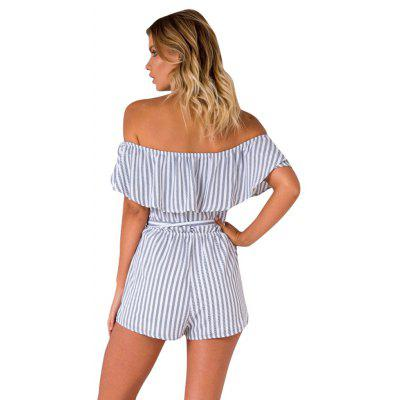 Europe and The United States Summer Sexy Word Stripe Shorts Conjoined Pants Women Casual PantsJumpsuits &amp; Rompers<br>Europe and The United States Summer Sexy Word Stripe Shorts Conjoined Pants Women Casual Pants<br><br>Elasticity: Micro-elastic<br>Fabric Type: Worsted<br>Fit Type: Straight<br>Material: Polyester, Spandex<br>Package Contents: 1 x Jumpsuit<br>Package weight: 0.1600 kg<br>Pattern Type: Others<br>Style: Fashion<br>With Belt: No