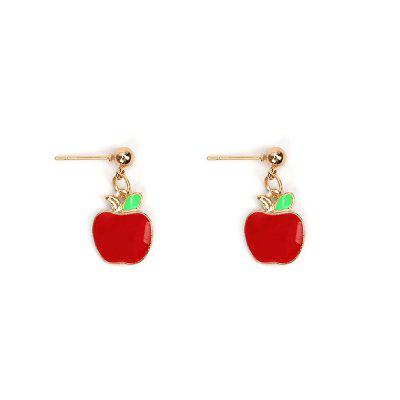 Creative Models Small Red Apple Set Bracelet Earrings Necklaces Jewelry