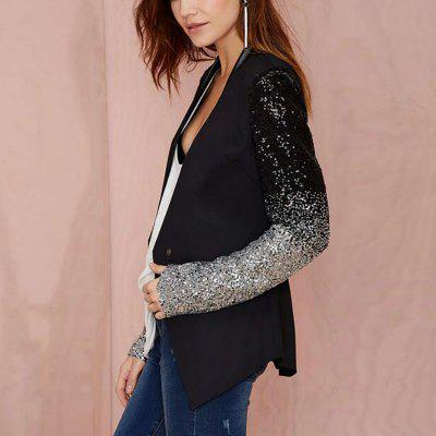 Black Blazer Women Casual Jacket Sequin Long Sleeve Spring Women CoatBlazers<br>Black Blazer Women Casual Jacket Sequin Long Sleeve Spring Women Coat<br><br>Closure Type: Single Button<br>Clothing Length: Regular<br>Color: Black<br>Embellishment: Sequined<br>Fit Type: Regular<br>Front Style: Flat<br>Hooded: No<br>Material: Cotton Blends<br>Package Contents: 1 x Blazer<br>Package size (L x W x H): 1.00 x 1.00 x 1.00 cm / 0.39 x 0.39 x 0.39 inches<br>Package weight: 0.3200 kg<br>Pattern Type: Patchwork<br>Sleeve Length: Long Sleeves<br>Type: Suits
