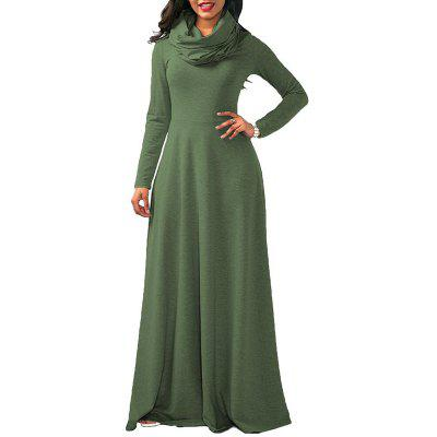 Cowl Neck Maxi Dress Oversized Long Sleeve Cotton DressMaxi Dresses<br>Cowl Neck Maxi Dress Oversized Long Sleeve Cotton Dress<br><br>Dresses Length: Floor-Length<br>Elasticity: Micro-elastic<br>Embellishment: Draped<br>Fabric Type: Broadcloth<br>Material: Cotton<br>Neckline: Jabot Collar<br>Package Contents: 1 x Dress<br>Pattern Type: Solid<br>Season: Fall, Winter<br>Silhouette: A-Line<br>Sleeve Length: Long Sleeves<br>Style: Casual<br>Waist: Natural<br>Weight: 0.4900kg<br>With Belt: No