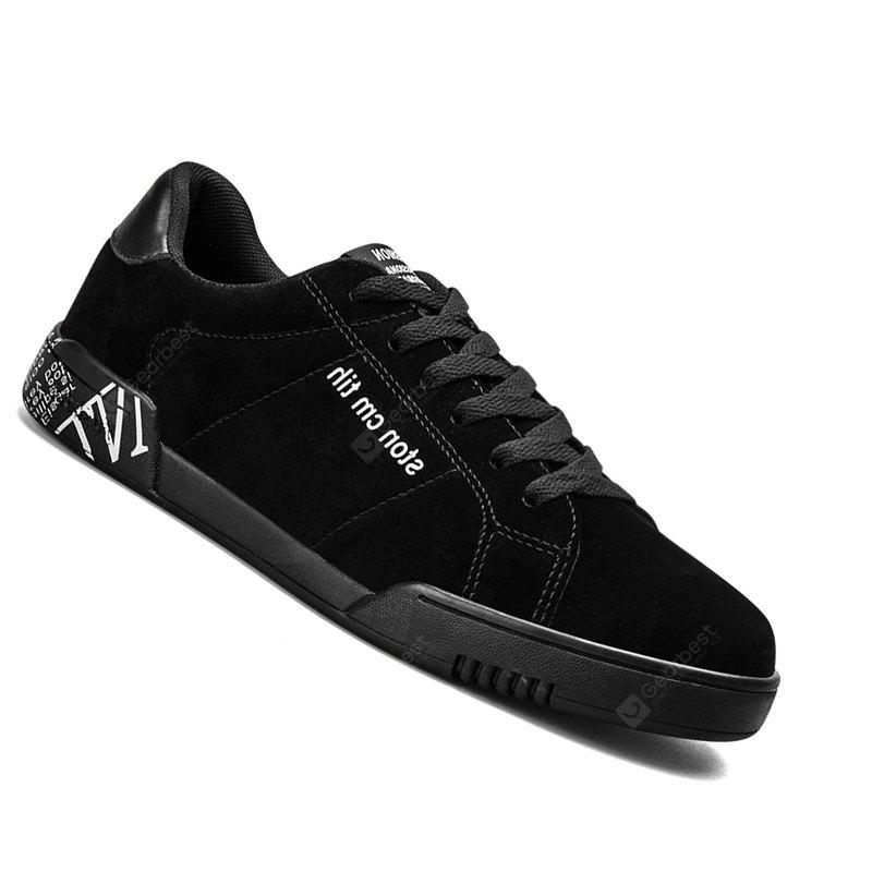 Männer Casual Fashion Outdoor Farbe Leder Flagge Wildleder Lace Up Flache Schuhe
