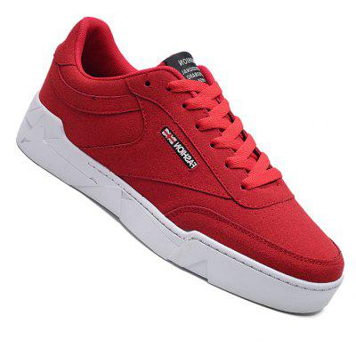 Männer Casual Fashion Outdoor Farbe Flagge Wildleder Lace Up Flache Schuhe