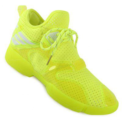 Lady Casual Fashion Outdoor Breathable Lace Up Solid Shoes