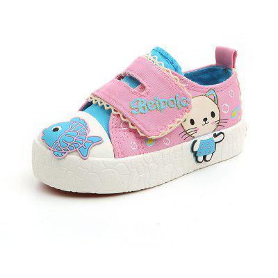 Design de desenhos animados do bebê Cute Magic Canvas Boy e Toddler Shoes
