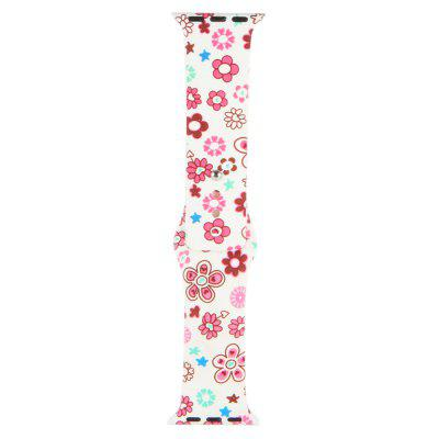 Silicone Material Floral Pattern Band for iWatch 38mm