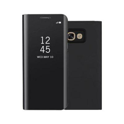 PU Leather Smart Clear View Flip Cover with K...