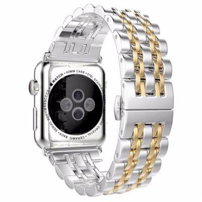 Buy GOLDEN Stainless Steel 42mm iWatch Replacement Band Adjustable Metal Wristband Strap With Butterfly Clasp for Series 3 2 1 Nike+ Sport Editio+Tool for $9.55 in GearBest store