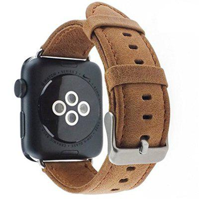Buy DAISY Premium Vintage Crazy Horse Genuine Leather Replacement Band for iWatch 42mm Series 3 2 1 Sport and Edition for $16.35 in GearBest store
