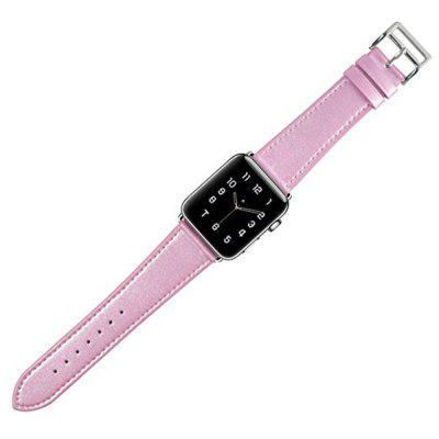 Buy ROSY PINK 42mm iWatch Band Soft Genuine Leather Strap Wristband for Series 3 2 1 for $11.28 in GearBest store