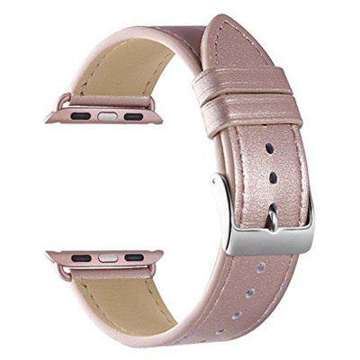 Buy ROSE GOLD 42mm iWatch Band Soft Genuine Leather Strap Wristband for Series 3 2 1 for $11.28 in GearBest store