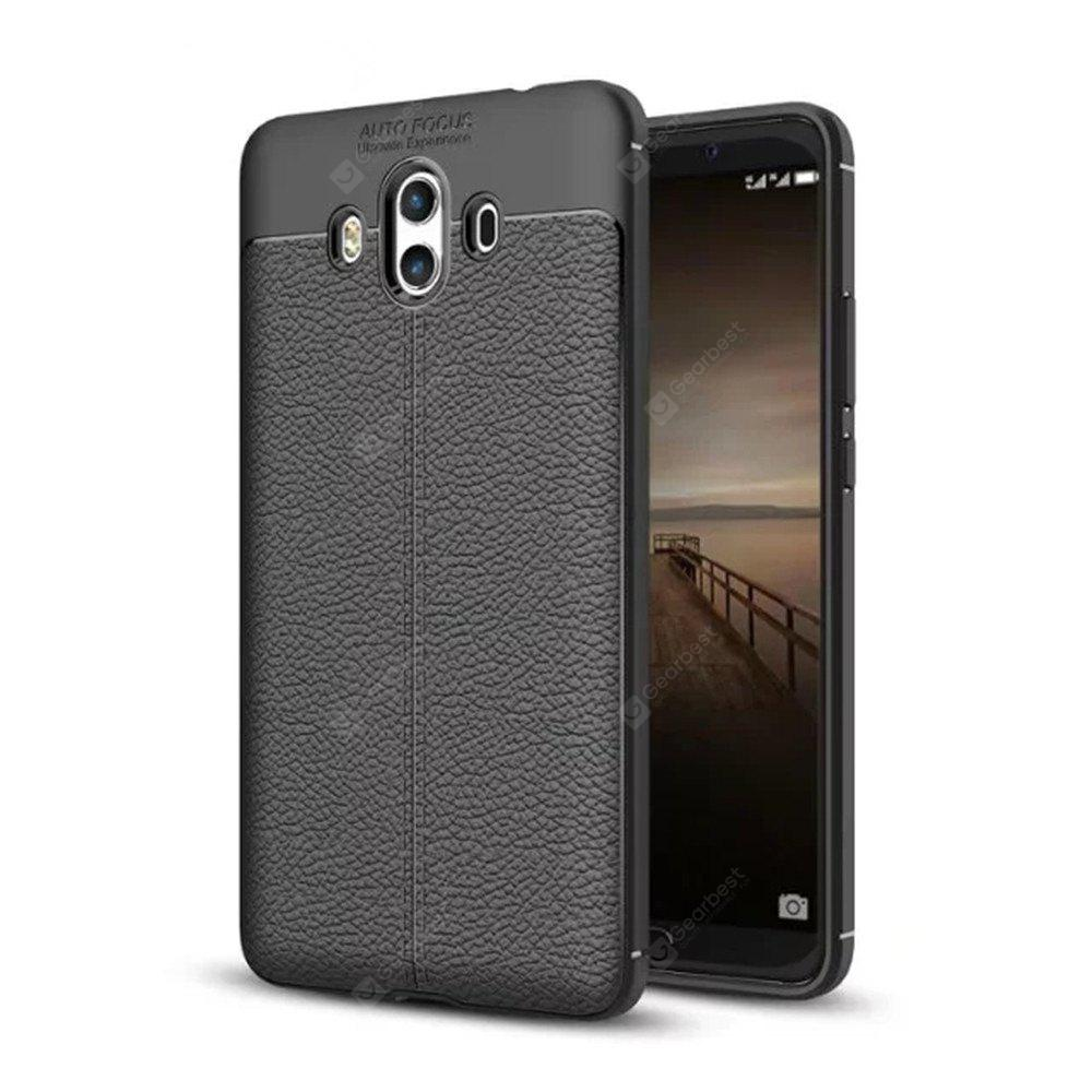 Luxo Leather Business Litchi Pattern PU Soft TPU capa caso para Huawei Mate10
