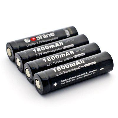 Soshine 18650 Lifepo4 Protected Battery 3.2V 1800mAh