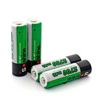 Soshine Ni-Mh Battery Rechargeable AA 1.2V 2700mAh