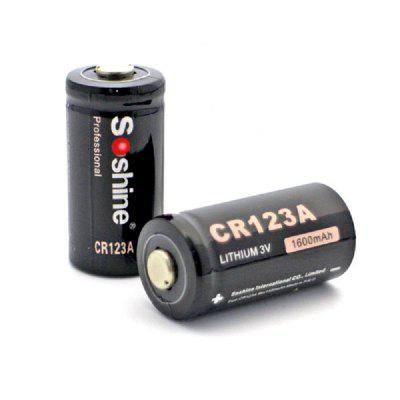 Soshine CR123A Disposable Battery 3.0V 1600mAh 2PCS