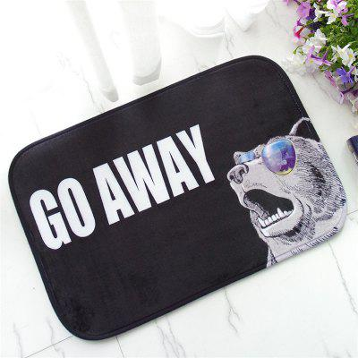 Buy COLORMIX Creative Go Away Pattern Antiskid Floor Mat for $12.42 in GearBest store