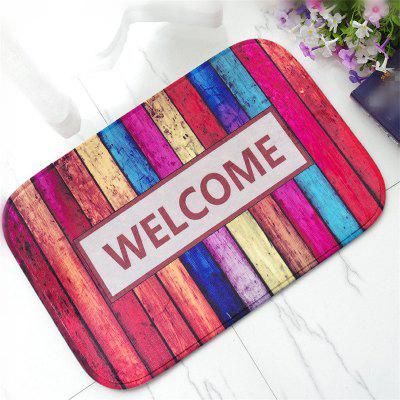 Buy COLORMIX Creative Welcome Pattern Antiskid Floor Mat for $12.28 in GearBest store