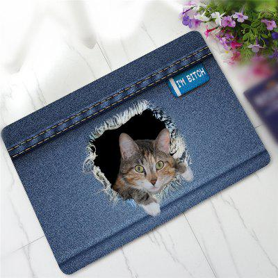 Buy COLORMIX Creative 3D Cat Pattern Antiskid Floor Mat for $13.39 in GearBest store
