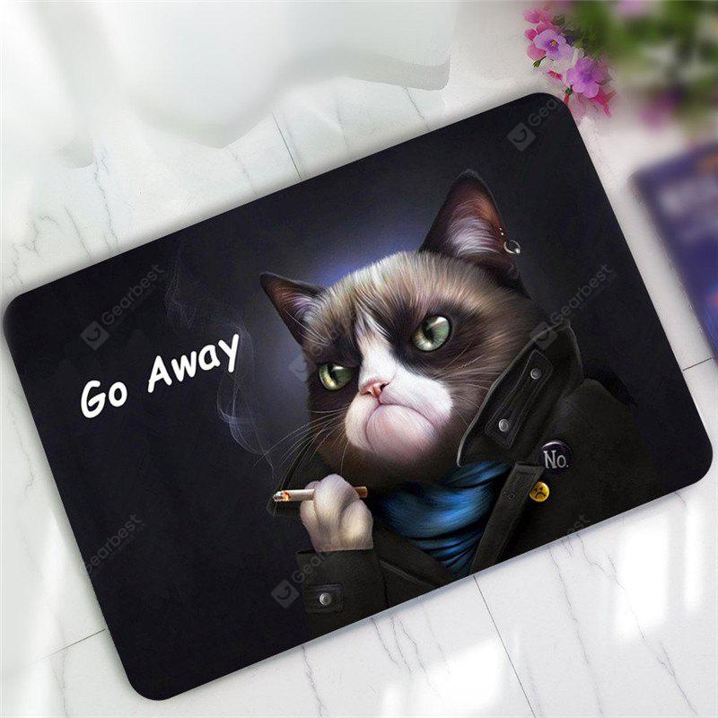 Mat modello antisdrucciolo creativo Go Away Cat Pattern