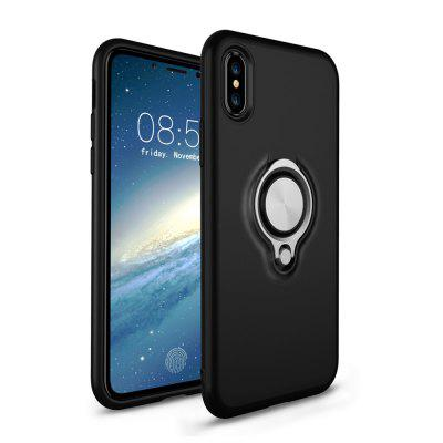 360 Degree Ring Kickstand Magnetic Bracket Dual Layer Anti-scratch Armor Case for iPhone X