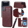 Premium PU Leather Wallet Fit Hard Back Case Minimalist Shockproof Optimal Protective Shell for iPhone X - WINE RED