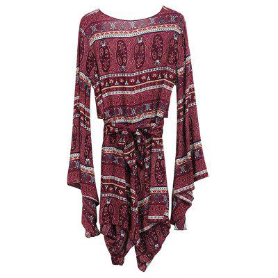 Printing V-neck Long-Sleeve JumpsuitJumpsuits &amp; Rompers<br>Printing V-neck Long-Sleeve Jumpsuit<br><br>Elasticity: Nonelastic<br>Fabric Type: Broadcloth<br>Fit Type: Loose<br>Material: Polyester<br>Package Contents: 1 x Jumpsuit<br>Package weight: 0.1900 kg<br>Pattern Type: Print<br>Style: Vintage<br>With Belt: No