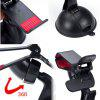 ZIQIAO 360 Degrees Rotation Universal Car Suction Mount Cell Phone / GPS Holder  -  BLACK - BLACK