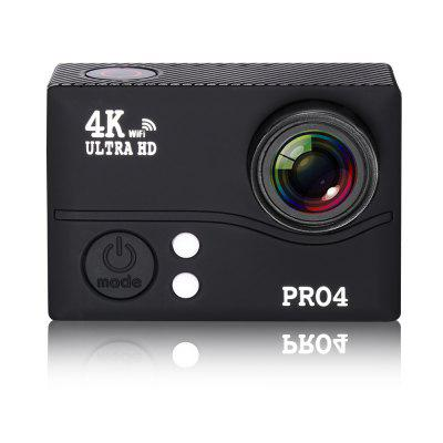 20MP 4K FHD 1080P 2.0 LCD WiFi Waterproof 170 Degree Wide-angle Lens Sports Action CameraAction Cameras<br>20MP 4K FHD 1080P 2.0 LCD WiFi Waterproof 170 Degree Wide-angle Lens Sports Action Camera<br><br>Aerial Photography: Yes<br>Anti-shake: Yes<br>Application: Aerial Photography, Bike, Extreme Sports, Motorcycle, Ski, Underwater<br>Auto Focusing: Yes<br>Auto-Power On: Yes<br>Battery Capacity (mAh): 1500mAh<br>Battery Type: Built-in<br>Camera Pixel: 20M<br>Camera Timer: Yes<br>Charge way: AC adapter,Car charger,USB charge by PC<br>Class Rating Requirements: Class 10 or Above<br>Decode Format: H.264<br>Delay Shutdown: Yes<br>Exposure Compensation: -2.0~2.0<br>Features: Cool<br>FPV Output: Yes<br>Frequency: 50Hz,60Hz<br>Function: Anti-Shake, Auto-Power On, Camera Timer, FPV Output, G-sensor, Loop-cycle Recording, Motion Detection, Remote Control, Time Lapse, Waterproof, WiFi<br>G-sensor: Yes<br>HDMI Output: Yes<br>HDR: No<br>Image Format: JPG<br>Image resolutions: ( 2016 ? 1512 ) 3M, ( 2569 ? 1520 ) 5M, ( 3264 ? 2448 ) 8M, ( 4000 ? 3000 ) 12M, ( 4352 ? 3264 ) 14M, 5120 x 3840 (20M)<br>Interface Type: External storage card slot, Micro HDMI, Micro USB, TF Card Slot<br>ISO: Auto,ISO100,ISO1600,ISO200,ISO400,ISO800<br>Language: Czech,English,French,German,Italian,Japanese,Korean,Polish,Portuguese,Romanian,Russian,Simplified Chinese,Slovenian,Spanish,Traditional Chinese<br>LED Qty.: 2<br>Loop-cycle Recording: Yes<br>Loop-cycle Recording Time: 10min,1min,2min,3min,5min,OFF<br>Max External Card Supported: TF 128G (not included)<br>Model: PRO4<br>Motion Detection: Yes<br>Package Contents: 1 x Waterproof Housing, 1 x Battery, 1 x Quick Release Buckle, 2 x 3-Way Pivot Arm Mount, 1 x Handlebar Pole Mount, 1 x USB Cable, 1 x Back Splint, 4 x Ribbon, 1 x Cleaning Cloth, 4 x Bandage<br>Package size (L x W x H): 11.50 x 6.50 x 22.80 cm / 4.53 x 2.56 x 8.98 inches<br>Package weight: 0.6200 kg<br>Product size (L x W x H): 6.00 x 4.10 x 2.20 cm / 2.36 x 1.61 x 0.87 inches<br>Product w