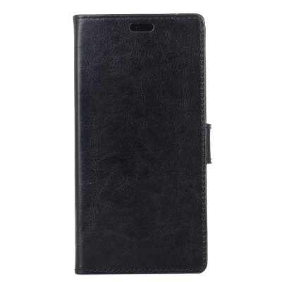 Buy BLACK KaZiNe Crazy Horse Texture surface Leather Wallet Case for Alcatel U5 HD for $3.66 in GearBest store