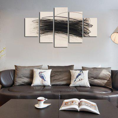 Buy COLORMIX QiaoJiaoHuanYuan No Frame Canvas Abstract line Decorative Print 5PCS for $32.14 in GearBest store