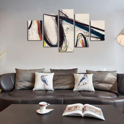 Buy COLORMIX QiaoJiaoHuanYuan No Frame Canvas Simple Abstract Decorative Hanging Print 5PCS for $32.14 in GearBest store