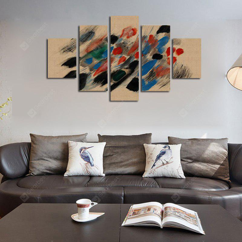 QiaoJiaoHuanYuan No Frame Canvas Abstract Print 5PCS