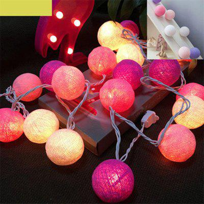 2M 20 LED Cotton Ball String Light for Wedding Garden Party Christmas Decoration