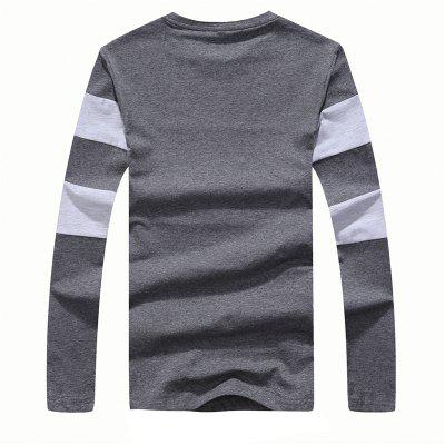 Mens Fashion Hit Color Slim Long-Sleeved T-ShirtMens T-shirts<br>Mens Fashion Hit Color Slim Long-Sleeved T-Shirt<br><br>Collar: Round Neck<br>Material: Cotton<br>Package Contents: 1 x T-Shirt<br>Pattern Type: Striped<br>Sleeve Length: Full<br>Style: Casual<br>Weight: 0.2000kg