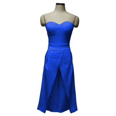 Womens Solid Color Srapless Casual JumpsuitsJumpsuits &amp; Rompers<br>Womens Solid Color Srapless Casual Jumpsuits<br><br>Elasticity: Elastic<br>Fabric Type: Broadcloth<br>Fit Type: Regular<br>Material: Acetate<br>Package Contents: 1 x Jumpsuit<br>Package weight: 0.3200 kg<br>Pattern Type: Solid<br>Style: Sexy<br>With Belt: No