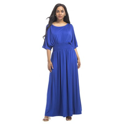 Buy ROYAL 2XL Women's Mesh Ruffle Patchwork Sexy Dress for $28.77 in GearBest store