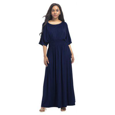 Buy DEEP BLUE L Women's Mesh Ruffle Patchwork Sexy Dress for $28.77 in GearBest store