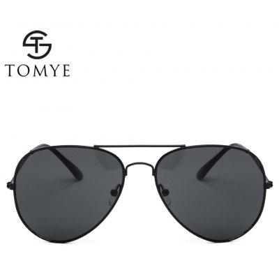 TOMYE 3026B Unisex Fashion Casual Aviator SunglassesMens Sunglasses<br>TOMYE 3026B Unisex Fashion Casual Aviator Sunglasses<br><br>Brand: TOMYE<br>Frame Length: 142mm<br>Frame material: Copper<br>Gender: Unisex<br>Group: Adult<br>Lens height: 53mm<br>Lens material: Resin<br>Lens width: 60mm<br>Nose: 15mm<br>Package Contents: 1 x Pair of Sunglasses, 1 x Glasses Case, 1 x Glasses Cloth<br>Package size (L x W x H): 16.00 x 6.00 x 6.00 cm / 6.3 x 2.36 x 2.36 inches<br>Package weight: 0.0700 kg<br>Product weight: 0.0220 kg<br>Style: Pilot<br>Temple Length: 125mm