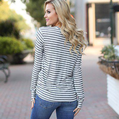 Womens Fashion Round Neck Long Sleeve Striped T-ShirtTees<br>Womens Fashion Round Neck Long Sleeve Striped T-Shirt<br><br>Collar: Round Neck<br>Elasticity: Micro-elastic<br>Fabric Type: Woolen<br>Material: Polyester, Cotton Blends<br>Package Contents: 1 x T-Shirt<br>Pattern Type: Striped<br>Shirt Length: Regular<br>Sleeve Length: Full<br>Style: Fashion<br>Weight: 0.2100kg