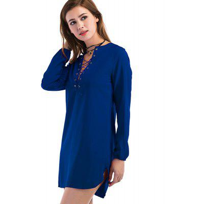 Womens Sexy Chest Strap Casual Long-Sleeved DressWomens Dresses<br>Womens Sexy Chest Strap Casual Long-Sleeved Dress<br><br>Dresses Length: Knee-Length<br>Elasticity: Elastic<br>Fabric Type: Woolen<br>Material: Polyester<br>Neckline: Round Collar<br>Package Contents: 1 x Dress<br>Pattern Type: Solid<br>Season: Fall<br>Silhouette: Straight<br>Sleeve Length: Long Sleeves<br>Style: Casual<br>Weight: 0.1700kg<br>With Belt: No