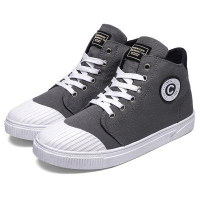 High Canvas Mens ShoesCasual Shoes<br>High Canvas Mens Shoes<br><br>Available Size: 39,40,41,42,43,44<br>Closure Type: Lace-Up<br>Embellishment: None<br>Gender: For Men<br>Outsole Material: Rubber<br>Package Contents: 1 x Shoes(pair)<br>Pattern Type: Solid<br>Season: Winter, Spring/Fall<br>Toe Shape: Round Toe<br>Toe Style: Closed Toe<br>Upper Material: Canvas<br>Weight: 1.8018kg