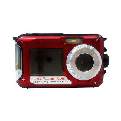 Buy RED DSC WP01 Camera Water-resistant Dual-screen HD 16X Digital Zoom with 24 Mega pixels for $85.53 in GearBest store