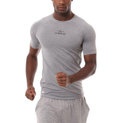 Quick-Drying Tights Breathable Stretch Fitness Attracts Sweat Running Short Sleeve Sportswear