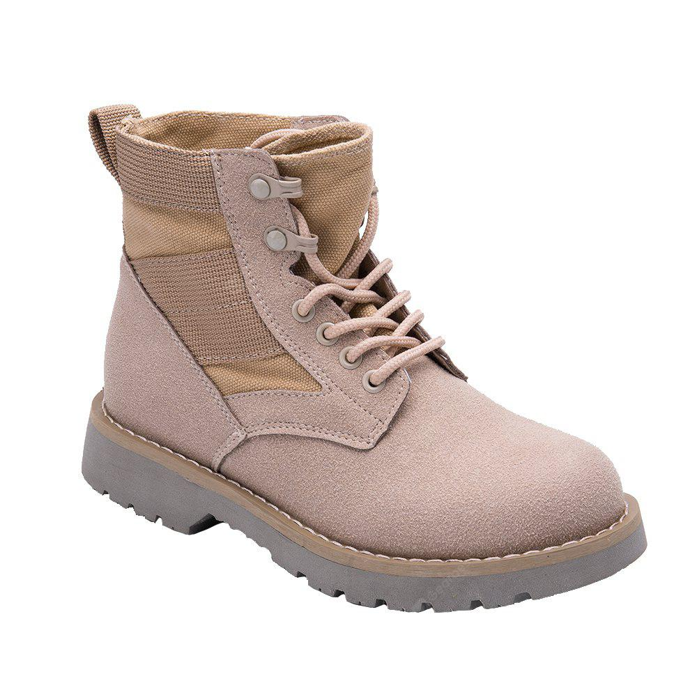Women'S Fashion Brown Winter Martin Boots Students Flat Short Shoes