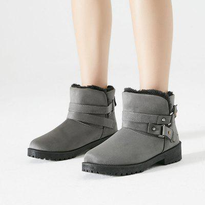 Women Faux Fur Warm Ankle Snow BootsWomens Boots<br>Women Faux Fur Warm Ankle Snow Boots<br><br>Boot Height: Ankle<br>Boot Type: Snow Boots<br>Closure Type: Slip-On<br>Embellishment: Buckle<br>Gender: For Women<br>Heel Height: 3<br>Heel Height Range: Low(0.75-1.5)<br>Heel Type: Wedge Heel<br>Insole Material: PU<br>Lining Material: Synthetic<br>Outsole Material: Plastic<br>Package Contents: 1 x Shoes(pair)<br>Pattern Type: Solid<br>Platform Height: 2<br>Season: Winter<br>Shoe Width: Medium(B/M)<br>Toe Shape: Round Toe<br>Upper Material: Suede<br>Weight: 1.7980kg